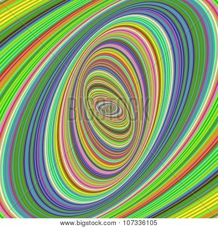 Colorful ellipse fractal design background