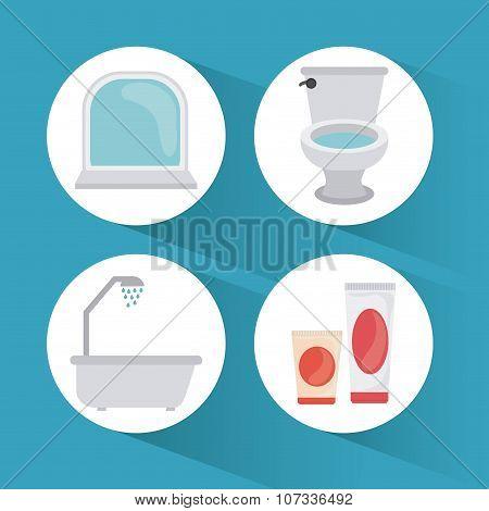 Bathroom icons design