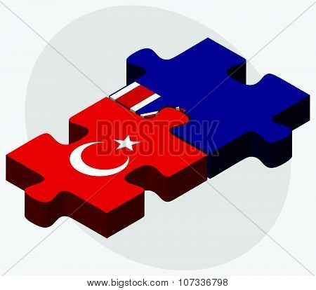 Turkey And Falkland Islands Flags