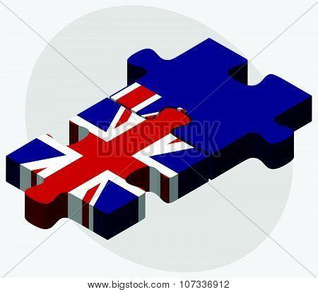 United Kingdom And Falkland Islands Flags