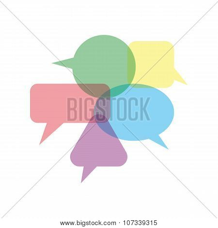 Set quote speech bubble. Frame for text. vector