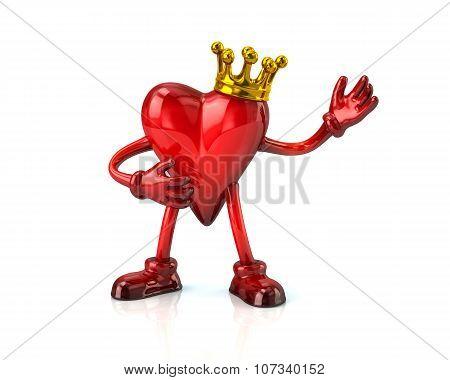 Heart Haracter In Crown
