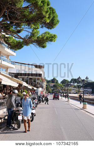 Ulcin, Montenegro, October, 24: Streets of Ulcin, one of the most beautiful cities in Montenegro