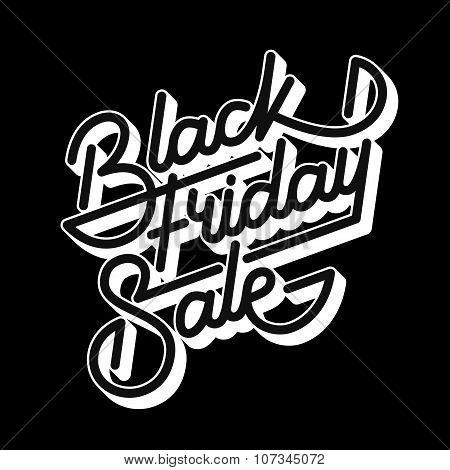 Black Friday Sale Lettering Badge