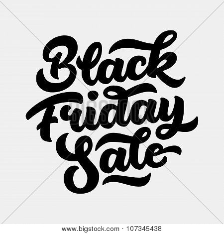 Black Friday Sale Lettering Badge