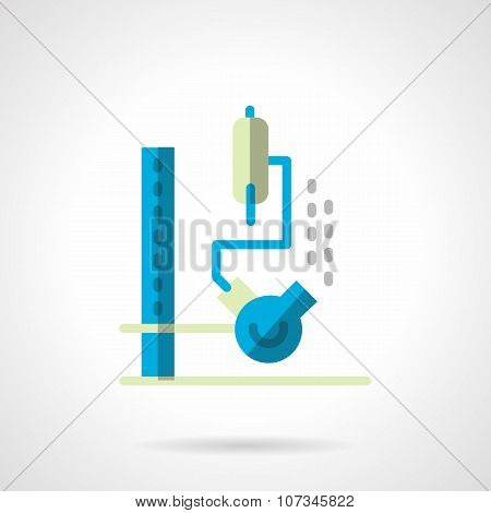 Chemical lab equipment flat color vector icon
