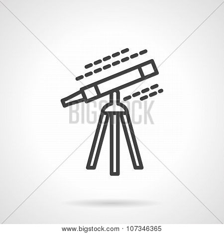 Black line telescope vector icon