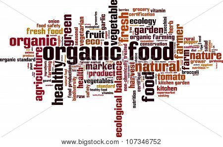 Organic Food Word Cloud