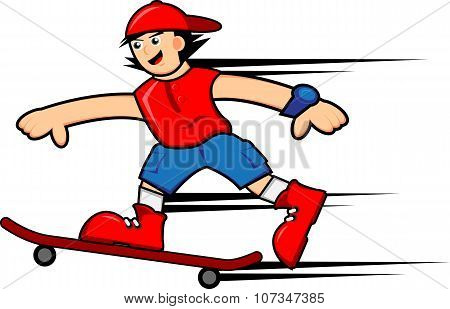 Skateboarder Boy