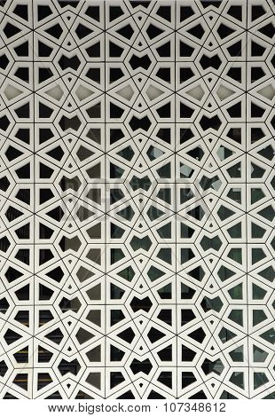 Islamic geometric wall pattern. The National Mosque of Malaysia a.k.a Masjid Negara