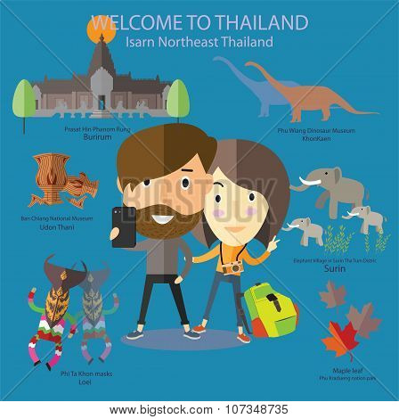 tourist travel to Isarn Northeast Thailand