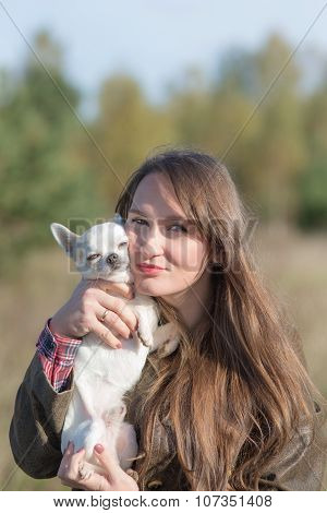 Portrait Of A Woman With Dog