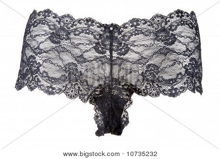 Black Feminine Panties From Lace