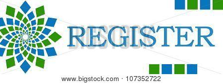 Register Green Blue Square Elements