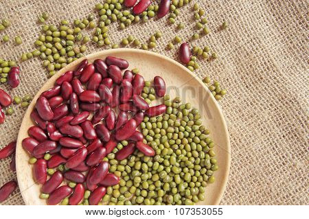 red beans with the green beans or mung beans