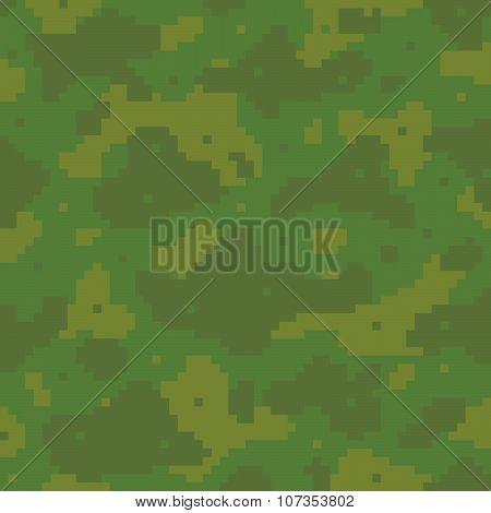 Pixel art army pattern