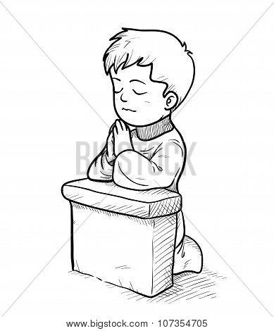 Praying Doodle