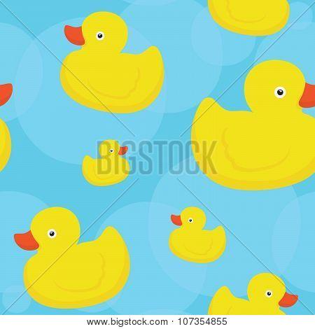 Rubber duck blue pattern
