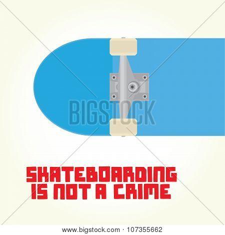 Skateboarding is not a crime vector
