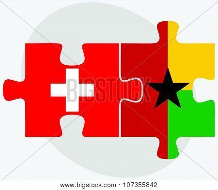 Switzerland And Guyana Flags