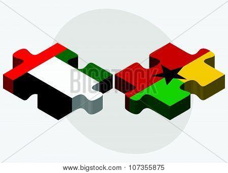 United Arab Emirates And Guyana Flags