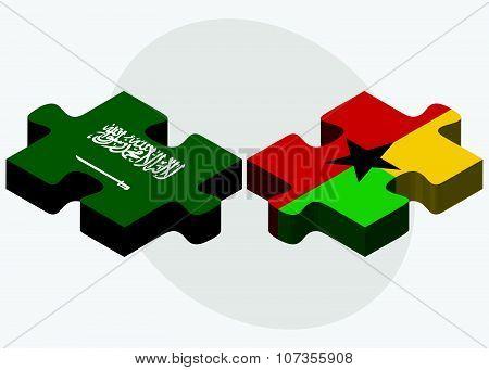 Saudi Arabia And Guyana Flags