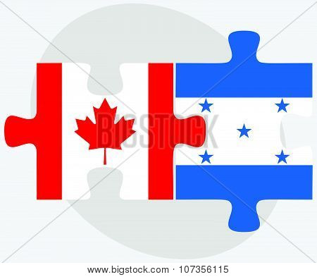 Canada And Honduras Flags