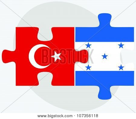 Turkey And Honduras Flags