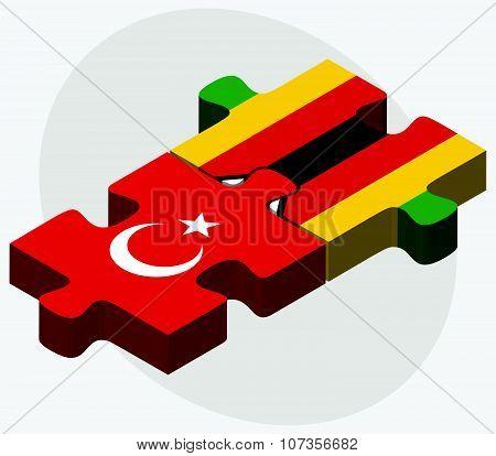 Turkey And Zimbabwe Flags