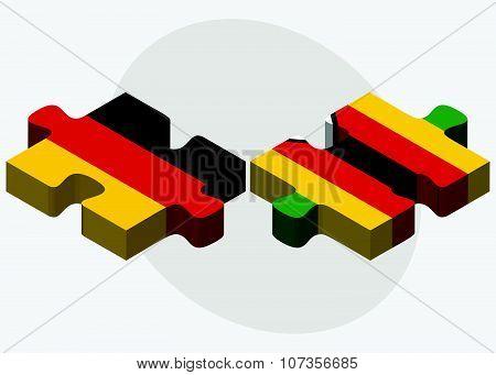 Germany And Zimbabwe Flags