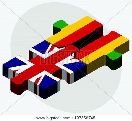 United Kingdom And Zimbabwe Flags