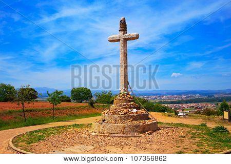 Stone cross of Santo Toribio near Astorga by the way of Saint James at Leon