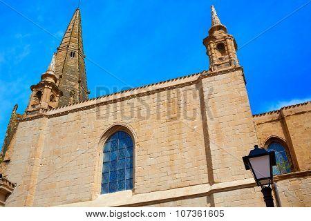 The Way of Saint James in Logrono Santa Maria Palacio church la Rioja Spain