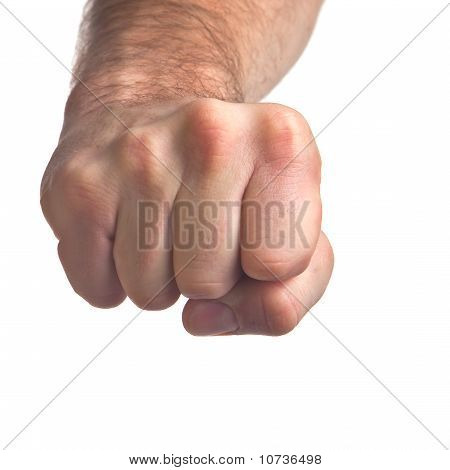 Man's Hand Tight Fist