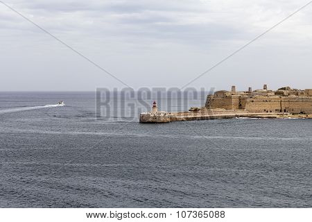 Fort Saint Elmo With Lighthouse In Malta Capital - Valletta