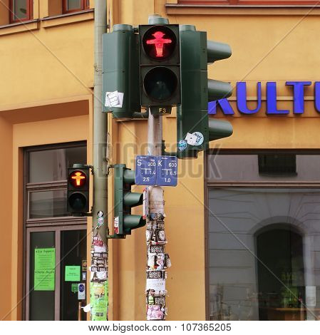 East Germany Ampelmann Traffic Lights In Berlin