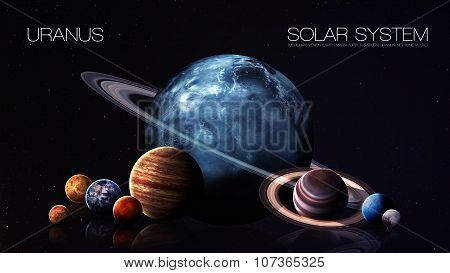 Uranus - 5K resolution Infographic presents one of the solar system planet. This image elements furn
