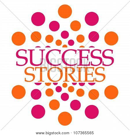 Success Stories Pink Orange Dots