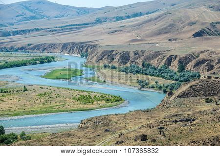 Kura River In Georgia
