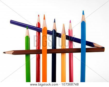 Set Of Colored Pencils For Children's Creativity