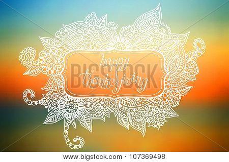 Doodle Thanksgiving Frame