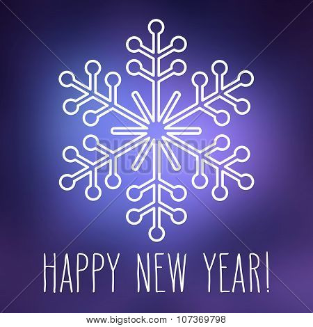 Snowflake And Happy New Year