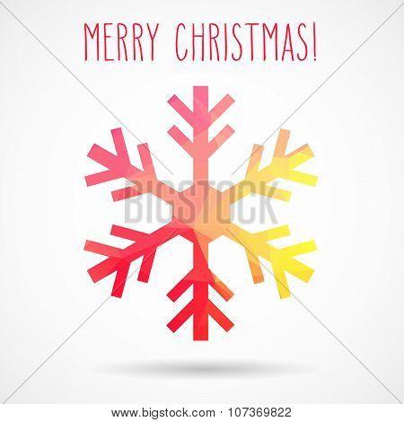 Abstract Christmas Geometric Snowflake