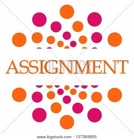 Assignment Pink Orange Dots Square