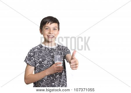 Young Boy Giving Thumbs Up
