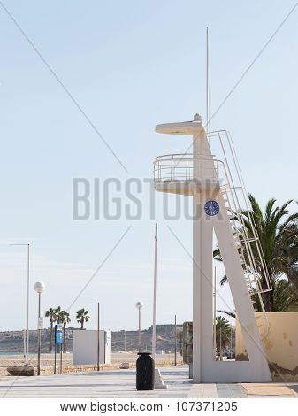 Alicante City Beach Lifeguard Tower