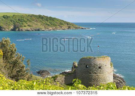 Devon coast Salcombe England uk Charles Fort ruins