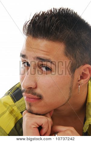 Man Resting Chin On Hand