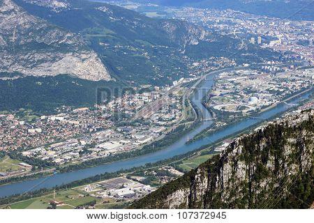 Panoramic View Of Grenoble