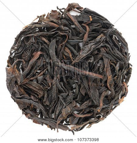 Red Tea Wuyi Lao Shu Hong Cha  Round Shape Isolated